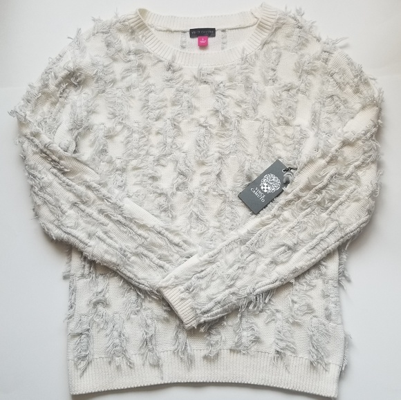 Vince Camuto Sweaters - VINCE CAMUTO FRINGE SWEATER